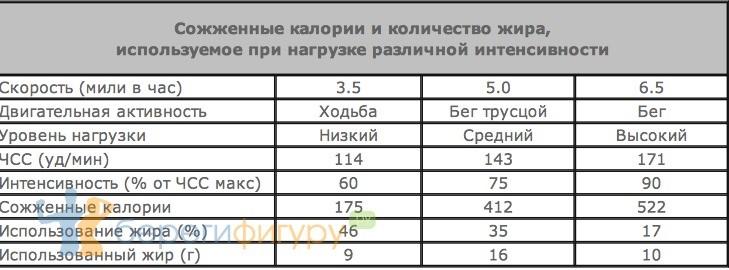 снять время бега для сжигания жира магазинов Москвы других