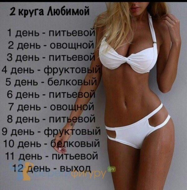Любимая диета на 10 дней