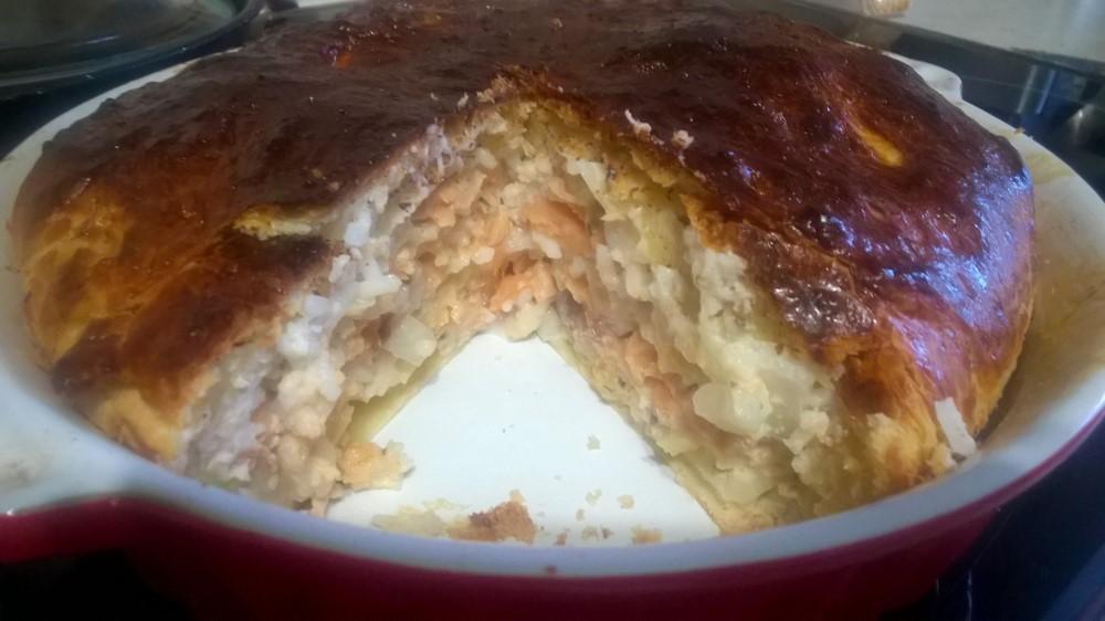 Рыбный пирог кефир рецепт